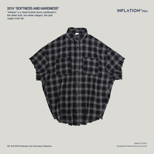 Image 4 - INFLATION Men Plaid Shirt Men Shirts 2019 New Summer Fashion Homme Mens Checkered Shirts Short Sleeve Shirt Men Blouse 9253S