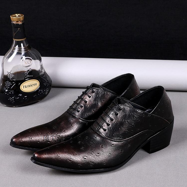 Vestem Shown De Negócios Masculinos Hombre Zapatos Shown as Formais Para Sapatos Itália Se Os Couro As Partido Casamento Genuíno Oxford Lace Calçados Up Homens AqfEgnw0xI