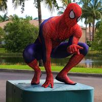 High Quality 3D Cobwebs Amazing Spiderman Costume Super Hero Spiderman Adult Costume Spandex Fullbody Suit