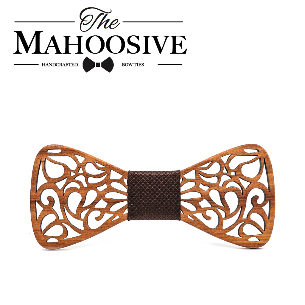 Mahoosive New Floral Wooden Bow Ties for Males Bowtie Hole Butterflies Marriage ceremony go well with picket bowtie Shirt krawatte Bowknots Slim tie HTB1JPJvuCtYBeNjSspkq6zU8VXaN