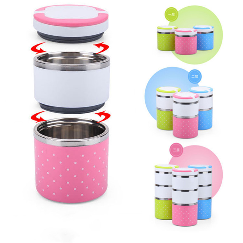 Children's Stainless Steel Wave Insulation Lunch Box Student Sealed Rice Bucket Portable Portable Lunch Box