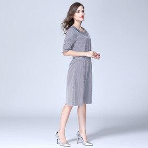 Image 4 - רגש אמהות פסים יולדות בגדי סיעוד הנקת הריון שמלות לנשים בהריון יולדות שמלת S M L XL