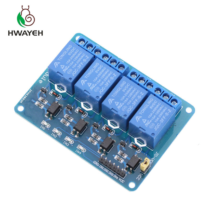5V 4-Channel Relay Module Shield for Arduino ARM PIC AVR DSP Electronic 5V 4 Cha