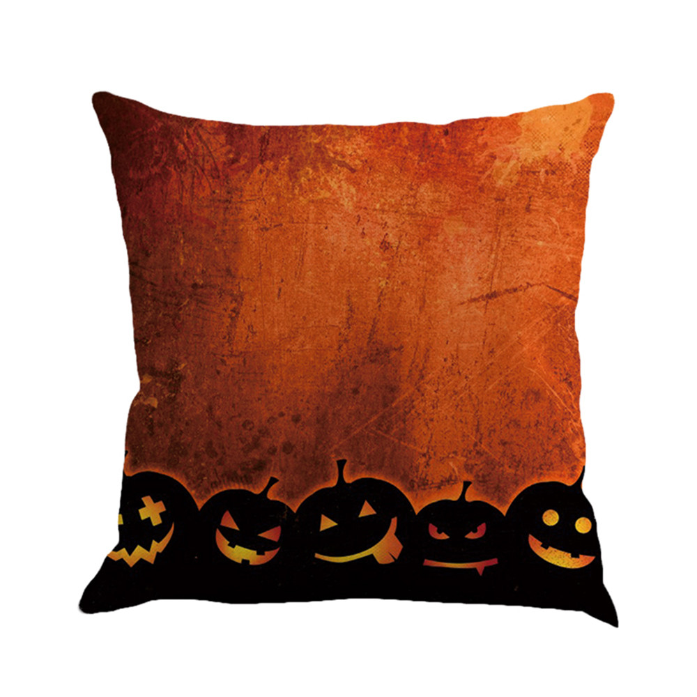 2017 Hot Happy Halloween Pillow Cases Linen Classic Gothic Dark Style Sofa Cushion Cover Comfortable Linen Home Decor F8253 Home Textile