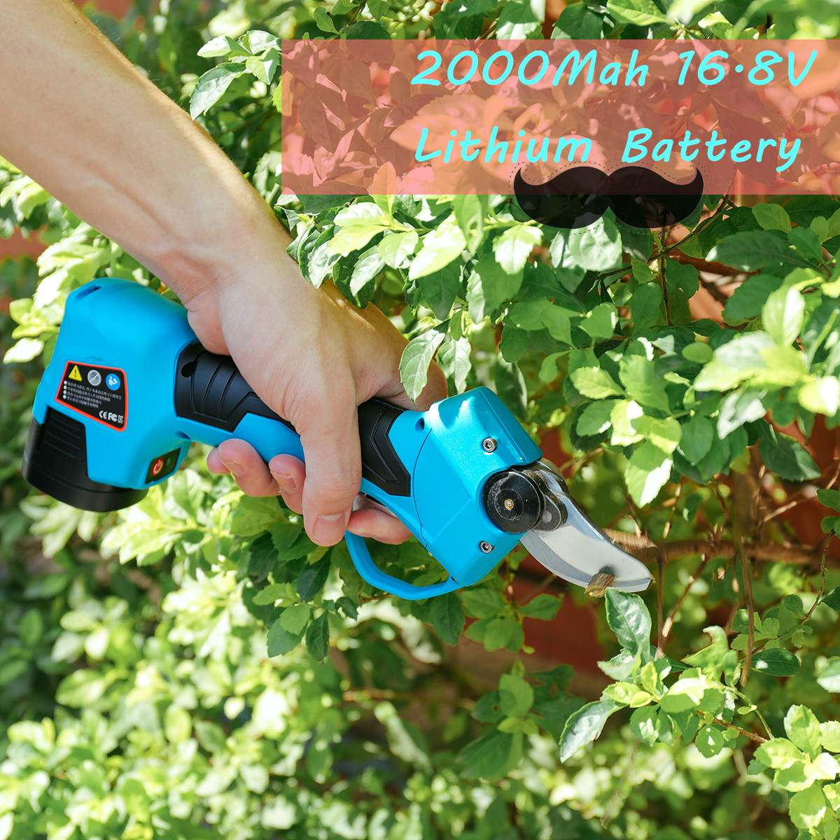 Meigar 16.8V Li-ion Battery Rechargeable Wireless Electric Scissors Pruning Shears Tree Garden Tool Branches Pruning Tools