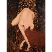 Hand Painted Gustav Klimt oil paintings woman Floating Nude Canvas art Reproduction High quality Home decor