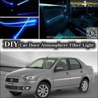 For Fiat Siena / Albea / Petra / Pyeonghwa Hwiparam interior Ambient Light Tuning Atmosphere Fiber Optic Band Lights Inside Door