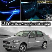 Voor Fiat Siena/Albea/Petra/Pyeonghwa Hwiparam interieur Omgevingslicht Tuning Sfeer Glasvezel Band Verlichting Binnen deur