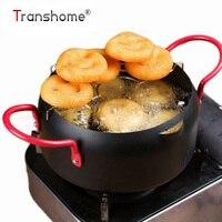 16CM Tempura Frying Pan Home Mini Frying Pan Stainless Steel Non Stick Frying Pot Eco Friendly