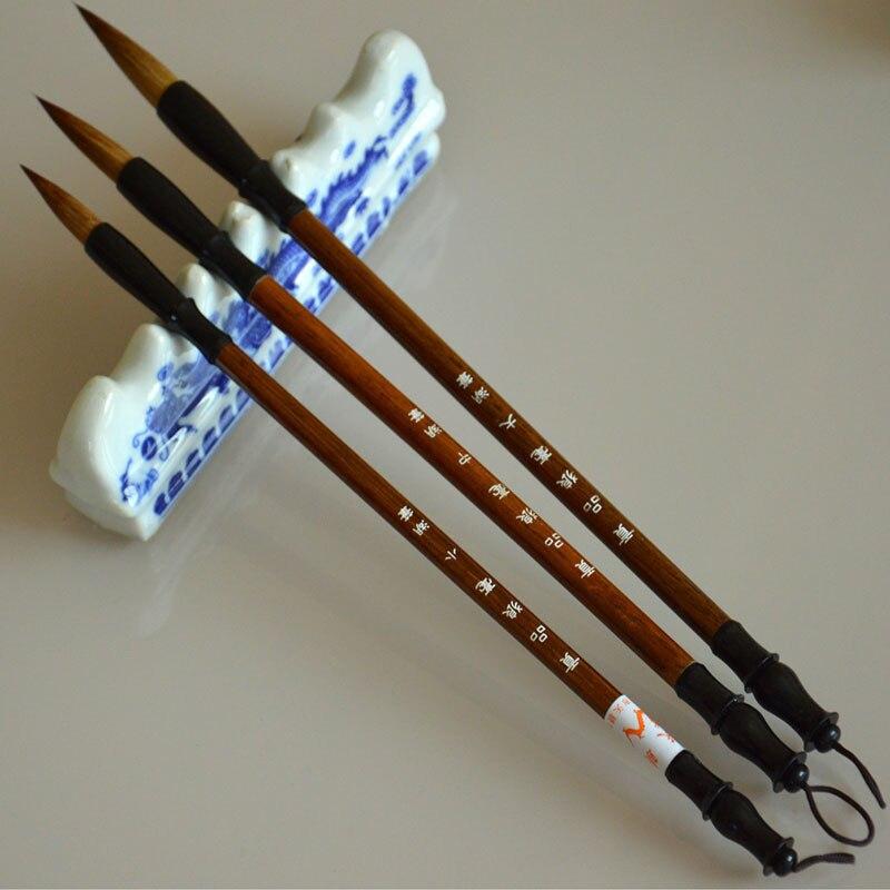 3 шт./компл., отличное качество, китайские кисти для каллиграфии, ручка для шерсти и волос, кисть для письма, подходит для школьников