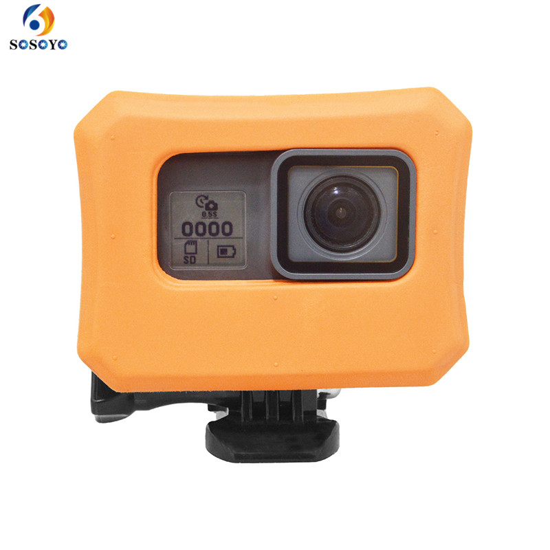 Floaty Floating Snorkeling Waterproof Housing Float protection frame Case Cover For Gopro Hero 5 6 7 black Camera Accessories waterproof protection housing case diving 45m protective cover camera accessories for gopro hero 6 5