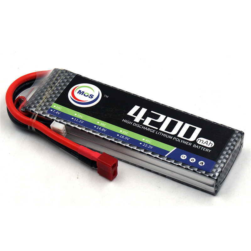 MOS 2S RC Drone Lipo Battery 7.4V 4200mAh 25C 2S Li-Po batteries for RC Airplane Quadcopter Lithium-Polymer Batteria lipo battery 7 4v 2700mah 10c 5pcs batteies with cable for charger hubsan h501s h501c x4 rc quadcopter airplane drone spare