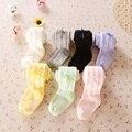 Doces Coloridos Calças Da Menina Do Bebê Recém-nascidos Meia-calça 0-4years Bebe Meia Underpant Princesa Calças de Algodão Das Crianças Roupa Dos Miúdos