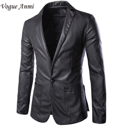 Vogue anmi brand new autumn casual blazer men slim fit mens blazer jacket leather suit men.jpg 250x250