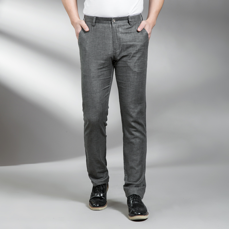 Plus size 10XL 8XL 6XL Linen New Arrival Mens Casual Business Pant Stretch trousers regular Straight Pant big size 46 48 50 52