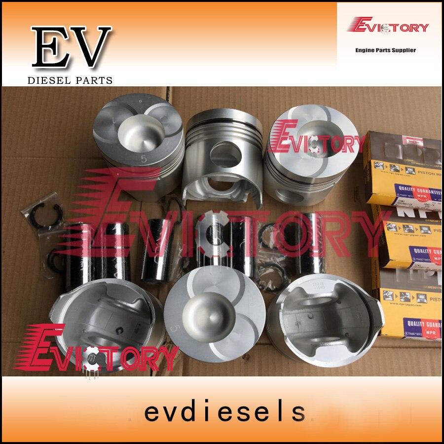 For Hino bus H06C H06CT piston+piston ring set|piston ring set|piston set|piston ring - title=