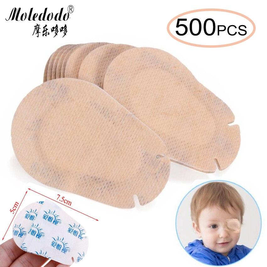 500PCS Children Medical Eye Mask Child Amblyopia Training Soft Eyeshade Amblyopia Orthoptic Corrected Eye Patches D30
