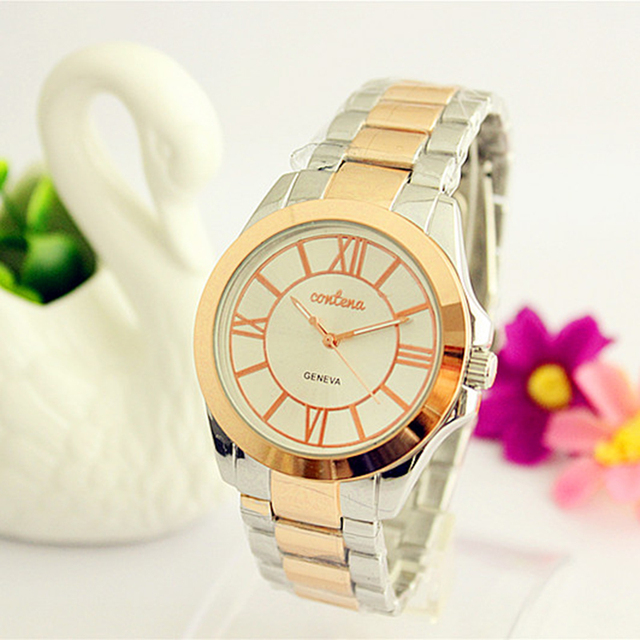 CONTENA Top Luxury Rhinestone Watch Women Watches Fashion Gold Bracelet Watch St