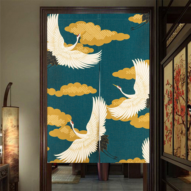 Japanese Style Canvas Door Curtains 4