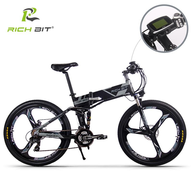 Image 3 - RichBit RT 860 36V*250W 12.8Ah Mountain Hybrid Electric Bicycle Cycling European  Quick deliveryFrame Inside Li on Battery Foldfolding ebikeelectric bicycle mountainelectric mountain -
