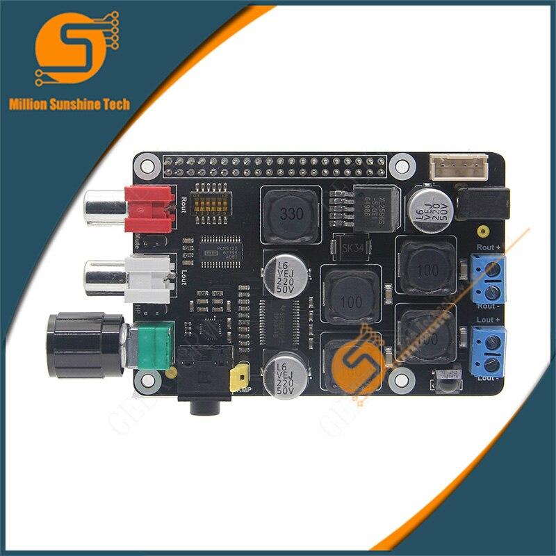Raspberry Pi DAC Full-HD PCM5122 Amplifier X400 Expansion Board W/ I2S Class-D | Music Player For Raspberry Pi 3 Model B, 2B, B+