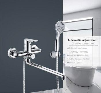 Micoe robinet de baignoire salle de bain baignoire ensemble de douche Chrome robinet mural en laiton baignoire évier mélangeur mélangeur d