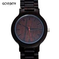 2018 Natural Bamboo Wood Watches men luxury sport quartz wrist Wooden Watch Mens Simple Creative Sport clock Relogio Masculino