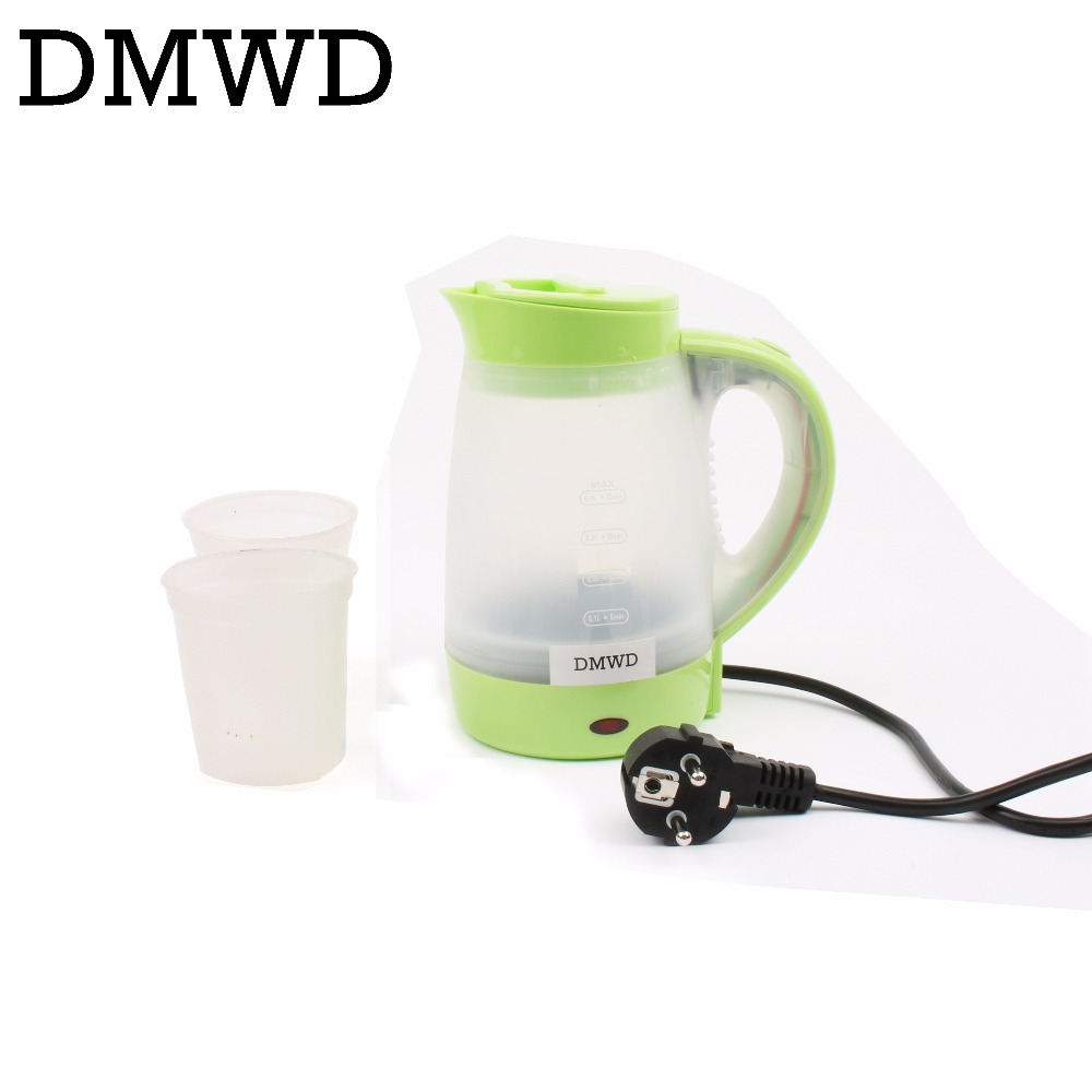 DMWD Electric kettle Hot Water Bolier Travel MINI portable Student use TeaPot Small Capacity 0.4L Rapid Heating Tea Pot EU plug dmwd electric kettle eggs slow cooker teapot multifunction porridge stew pot hot water boiler timing milk heater 1 8l 110v 220v