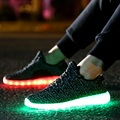 2016 Fashion Casual Boys Girl Shoe Led Children's Luminous Sneakers Kids Light Up Shoes Air Mesh LED Slippers Lights Led Shoes