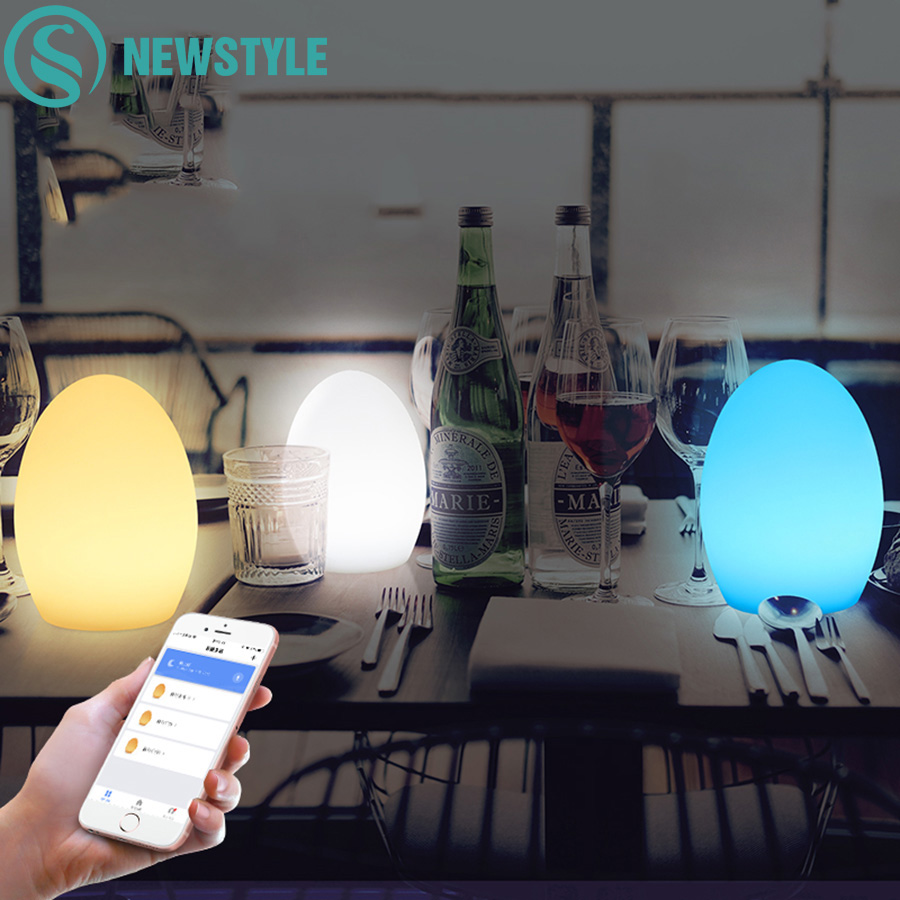 Touch Control Wifi Smart Light Egg Colorful RGB USB Led Night Light IP65 Waterproof Table Lamp for Home and Living Room