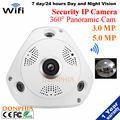 WI-FI IP Купольная Панорамной Камеры Fisheye 360 Градусов 3.0MP HD Сеть IP Камеры Безопасности ик-Android и Iphone управления для мобильных устройств