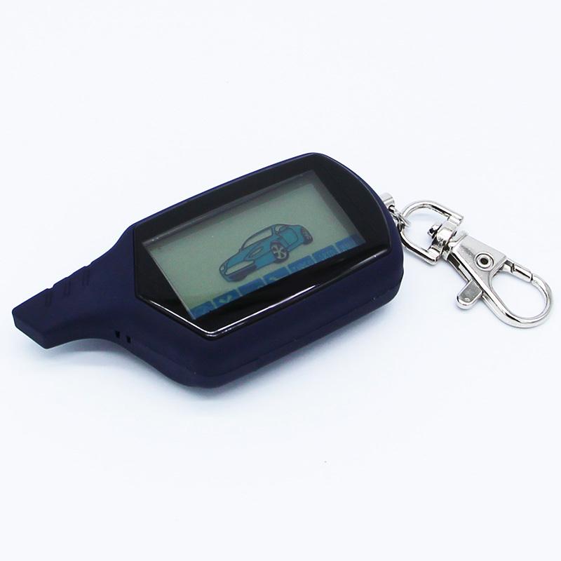 Prix pour Vente chaude A91 Starline A91 LCD À Distance Pour Deux Voies Alarme De Voiture Keychain Starline A91 Version Russe