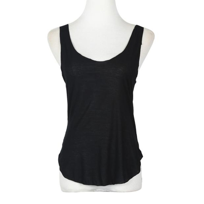 2017 Hot Summer Vest Tops Womens Solid Sexy V-Neck Sleeveless Casual Loose Tank Tops T-shirts Ladies Vest Singlets Female Blusas