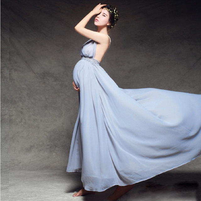Maternity Photography Props Clothes For Pregnant Women Dress Pregnancy  clothes photography long maternity dress for photo e0b903d7743d