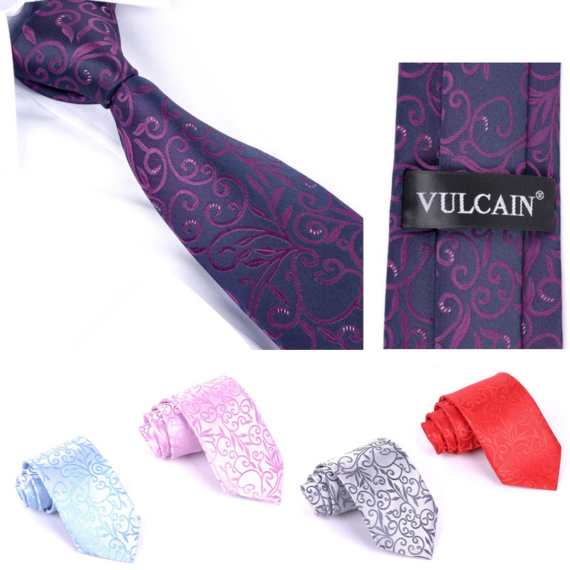 New Mens polyester Woven Ties Classic Neckties Fashion Mans 8CM Width Tie for Wedding Neck tie