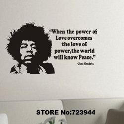 Music Wall Stickers Home Decor For Kids Rooms Jimi Hendrix Rock