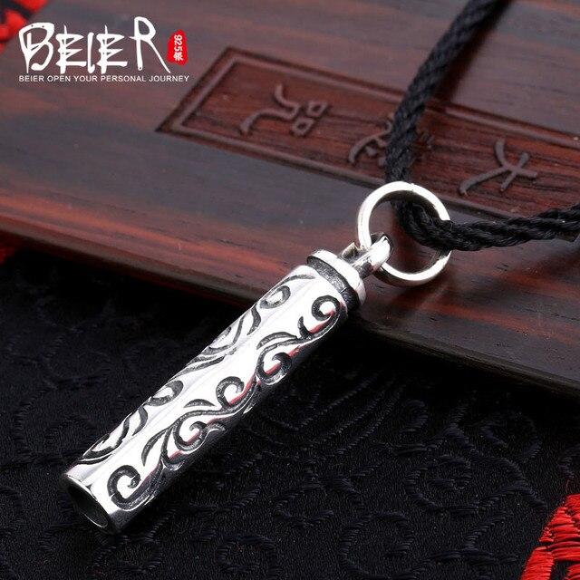 Nhân đạo miễn phí sợi dây màu đen Beier 925 bạc sterling mặt dây chuyền vòng cổ cho món quà cao ba lan đồ trang sức thời trang A1435