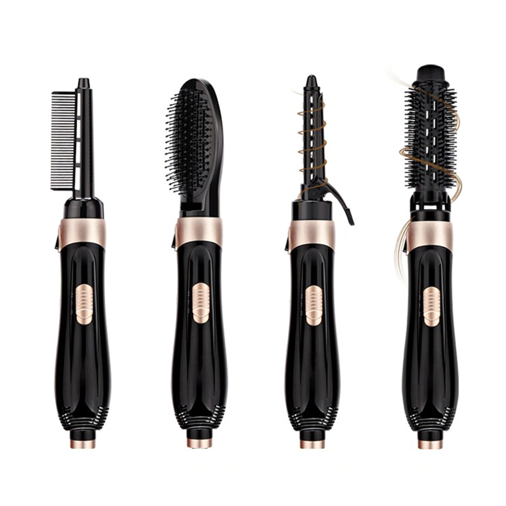 Multifunctional Straight and Roll Hair Styler Hair Dryer with 4 Styling Comb