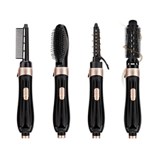 Multifunctional Straight and Roll Hair Styler Dryer with 4 Styling Comb