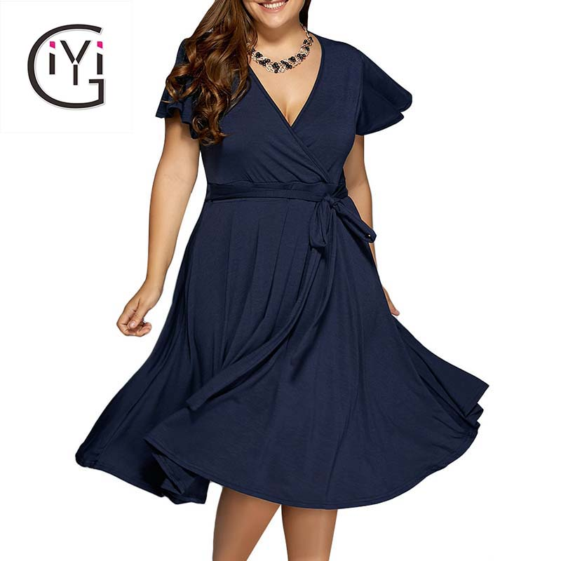 GIYI Plus Size 9XL 8XL 7XL 6XL font b Women b font Clothes Summer 2017 Sexy online buy wholesale dresses big women from china dresses big,7xl Womens Clothing