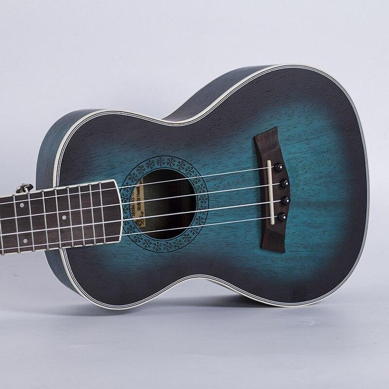Concert ténor ukulélé 23 26 pouces hawaïen Mini guitare acoustique électrique 4 cordes Ukelele Guitarra acajou bleu Musical Uke