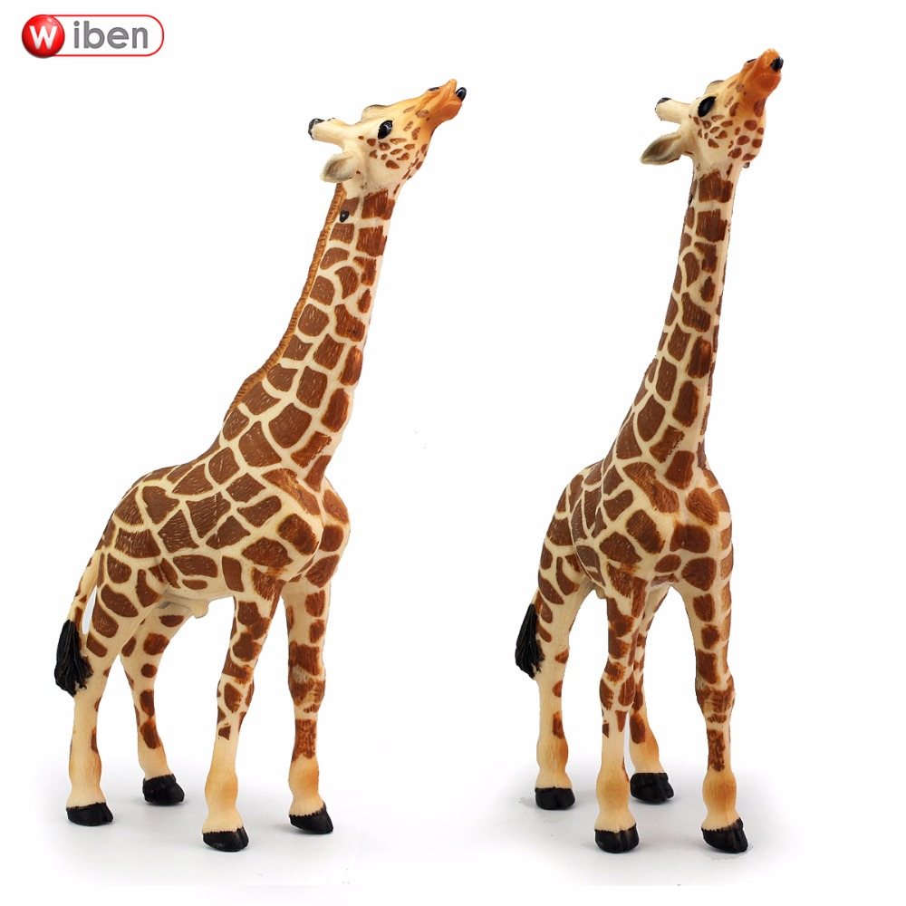 Wiben  Giraffe High Quality Simulation Animal Model Action & Toy Figures  Educational for Children Birthday  Christmas Gift 2017 new 1 6 1 6 12 action figures g43 sinper rifle tactical gun christmas gift free shipping boy toy birthday present