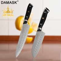 Damask Damascus 8 Chef Knife 5 Santoku Damascus Stainless Steel Kitchen Knife 67 Layer Japanese Cook's Cleaver Chef Cook Tools