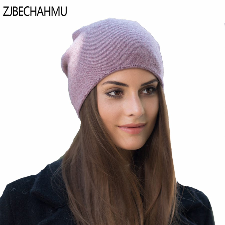 fashion Spring Autumn Winter Thick Warm Wool Hats For Women Good Quality Hats Cap For Girls Female Winter Caps 2017 new fashion autumn and winter wool leaves hollow out knitting hat thick female cap hats for girls women s hats female cap