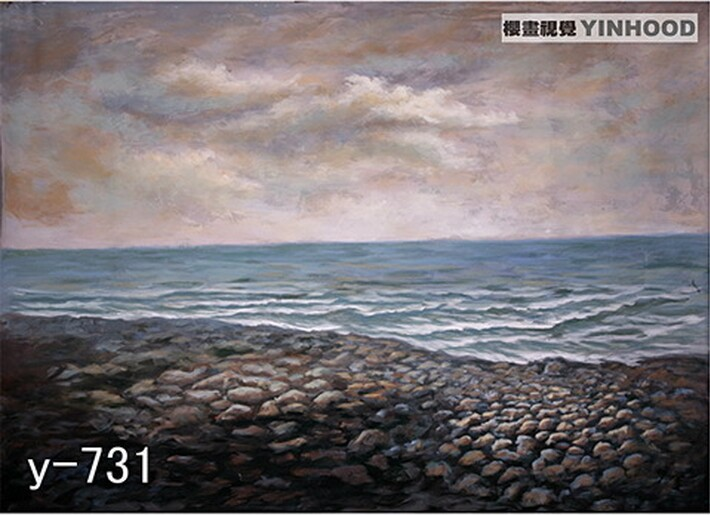 ФОТО Pro 3m x 6m Hand Painted Muslin Photographers Backdrops, Sea and Beach Studio Background, Free by DHL/UPS/EMS/FEDEX