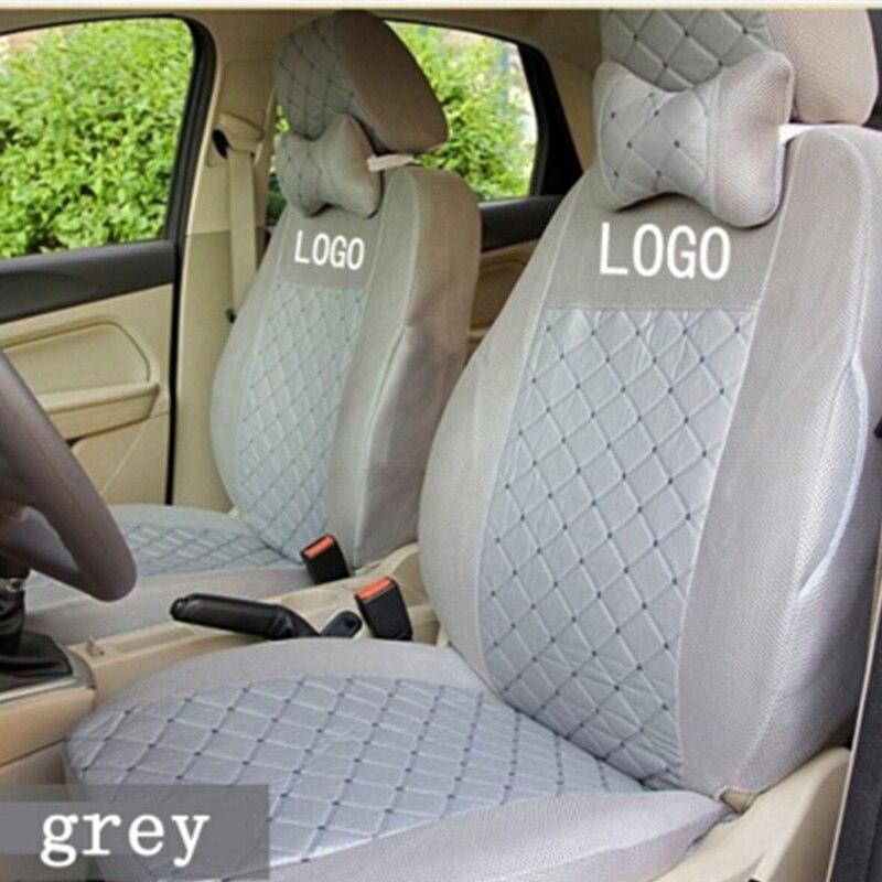 Logo de broderie respirant en soie personnaliser la couverture de siège de voiture pour Mitsubishi Pajero Sport OUTLANDER EX Lancer Galant EVO FORTIS - 4