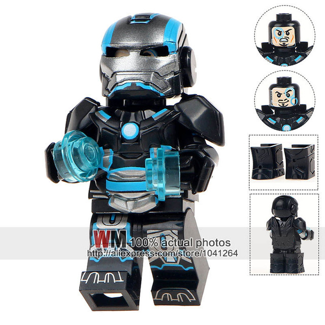 single sale mg0003 custom armored iron man suit war machine inspired building brick super heroes christmas