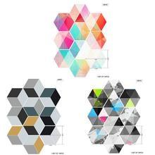10pcs New Colorful Hexagon Tiles Bathroom Kitchen Home Anti-slip Floor Stickers DIY Creative Mosaic Wall Stickers