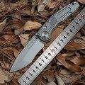 Distretto di 9 Originale Ciclone Flipper cuscinetto a sfere coltello pieghevole M390 lama di Titanio di campeggio di caccia Di Sopravvivenza all'aperto coltelli EDC strumento