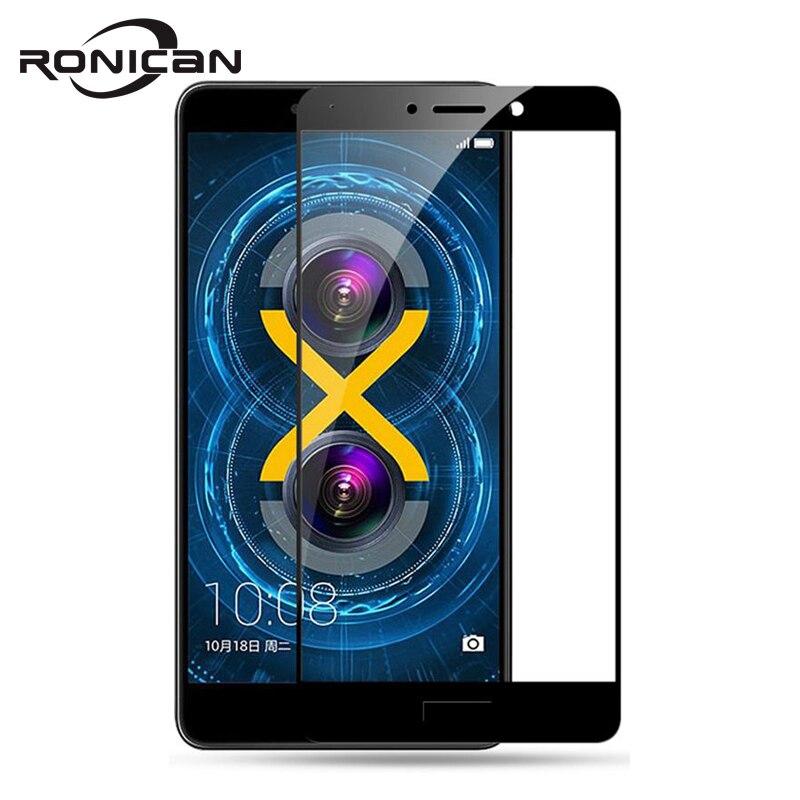 Pour Huawei Honor 6X verre trempé couverture complète HD Premium Film de protection en verre Honor 6X6 X protecteurs d'écran pelicula de vidro